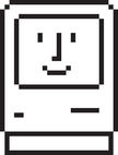 """The """"Happy Mac"""" was one of Apple's first icons."""