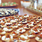 Carefully decorated hors d'oeuvres.  Photo by: JUCO
