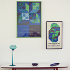 A pair of posters by op-art master Victor Vasarely in the other bedroom.  Photo by: JUCO