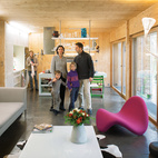 """Showing Off In a nod to what they describe as """"constructive truth,"""" the couple made the decision not to hide the technical elements that contribute to the home's green attributes. And by displaying all the sustainable features in the walls, it's """"easier for our clients to understand the system when they visit the house,"""" says Witzmann. They incorporated the Genvex ventilation system's double-flow ducts into the home's interior, exposing them at various points as they run through the house. In addition to looking pretty, they distribute clement fresh air; temperatures hover around  66 degrees Fahrenheit in the winter  and 71 degrees in the summer, never going higher than 78. And yes, Karanesheva assures, """"you can open the windows of a Passive House.""""  genvex.co.uk  Courtesy of © 2012 Nicholas Calcott."""
