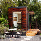 With little to no permitting required, Sett Studio units can be used for an extra bedroom, a yoga studio, a hydroponics growing area or an office space, like this 96-square-foot one shown here.  Courtesy of: blake gordon photography