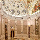 The marble and mosaic entrance rotunda received a thorough cleaning during the museum's $106 million renovation and expansion.