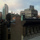 One more rooftop view for good measure. When do you ever get to see New York's cornice lines from so close?