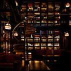 Here, the Library Bar, which is equally dark and richly textured, a marked difference from the scruffy Garment District neighborhood right outside.