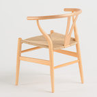 John Pawson: 1949 Wish Bone Chair (miniature model) for Hans J. Wegner for Carl Hansen and Son.