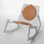 Featured earlier in the slideshow along side his design partner, Swedish designer Fredrik Färg designed this 4-piece low-level rocking chair unaccompanied.  Courtesy of: Copyright Studio CA