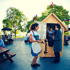 The Standard hotel brought a biergarten to Frieze.  Courtesy of 2012 © Faith-Ann Young.