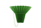 The Swedish WHATSWHAT Collective creates pieces around encouraging user interaction. This Greta lampshade in green features a drawstring that allows you to change the direction of the light.