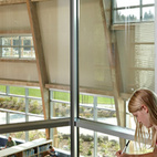NACIArchitecture's Machias Elementary School in Snohomish, Washington, uses the library as the spine of the school. Photo © Benjamin Benschneider Photography  Courtesy of © 2011 Benjamin Benschneider All Rights Reserved.