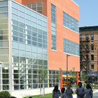"The urban space is an inspiration for how buildings can facilitate interaction. One example is the Frank R. Conwell School Campus in Jersey City, New Jersey, by Gruzen Samton and IBI Group. ""Over and over you see that the connection to the street is important, whether it's a collection of buildings or a single building it's conceived of in an urban way,"" Mellins says. ""This open area becomes like a main street that you can look across and see what's happening."" This allows for both easy planning of events and chance encounters. Photo by James D'Addio."
