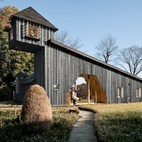 Terunobu Fujimori's Charred Cedar House, completed in 2007. As the name implies, the entire home is clad in charred cedar boards, which were treated with an ancient Japanese technique that seals the wood against rain and rot.  Photo by Adam Friedberg.   This originally appeared in Terunobu Fujimori.