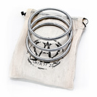 """PeaceBOMB Bracelets by Article 22 ($38.00 for three)text """"A22PeaceBomb3"""" to 767825 (portal)     A special product with a special story.  PeaceBOMB bracelets are crafted from the reclaimed metal of Vietnam-era bombs dropped on Laos during the United States' conflict in Indochina.  Developed through a social enterprise that supports sustainable development through design thinking, its collaborators include Naphia spoon makers, Helvetas's Rural Income Through Sustainable Energy Project and ARTICLE 22.  These bracelets not only represent an opportunity for artisan families to generate income, but also tell a story about their makers and the legacies of a shared history.  Buy the bombs back!"""""""