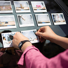 """Polaroids are taken of each object, with the """"subcode"""" written on the bottom."""