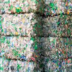 Eight to ten trailer truckloads of PET bales—each measuring 80 cubic feet and consisting of 20,000 bottles—arrive for processing every weekday.