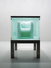 """""""Second Nature"""" (2008) is a chair """"grown"""" from crystals in a transparent tank."""