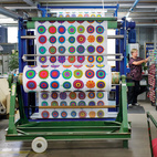 Designers Maija Louekari's Lappuliisa fabric is cut and rolled into bolts. Follow us as we step inside Marimekko's printing factory for a look at how its iconic textiles come to life.  Courtesy of 2011.