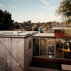 With its easy access, the flat roof is never hard to maintain.  Photo by: Misha Gravenor