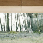 A low slung, plywood-clad box window creates a peaceful nook for meditating on nature. Via ffffound.