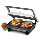 The Cuisinart 5-in-1 Griddler is a compact appliance that's well-suited to small apartment kitchens.  It features five different plates that work for everything from pancakes to steaks. It's especially useful for city-dwellers who lack space for a grill.