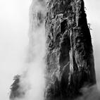 Twin Bamboo Shoot Peak, taken at the Heavenly Sea in 1991  Photo by: Wang Wusheng