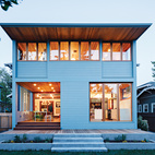 This airy addition on the back of a historic house in Boise is a model of sensitive renovation, seamlessly melding new and old. Photo by Lincoln Barbour.  Courtesy of ©Lincoln Barbour - All Rights Reserved.