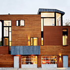 Finished in 2002, this Boston project is clad in western red cedar and copper, which is slowly acquiring a green patina. Named the Valentine House, for its street (which was named for the soap factory), the structure cuts a striking figure in Cambridge. Photo by Roger Davies.    This originally appeared in About a View.