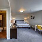 One of Ale House Inn's cozy bedrooms.