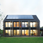 With the roof angled at 43 degrees, the architects lined the southern slant of the house with solar panels to collect as many rays as possible. Karanesheva and Witzmann started with four, but then added 23 more, all by Systaïc; the company gave them a deal since theirs was its first installation in France. The panels now collect far more energy than the home actually needs, a precious resource that the pair sells back to the power company. systaic.com Photo by Nicholas Calcott