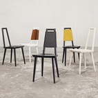 Swedish designer Fredrik Färg along with the French-Swedish designer Emma Marga Blanche of Studio Färg & Blanche create pieces that break the rules. This simple chair can be easily converted into different styles using garments.