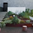 Concrete stairs factor into the landscaping surrounding a modern house in Phoenix, Arizona. Photo by: Dean Kaufman  Photo by: Dean Kaufman