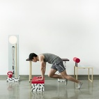 Designed to easily transform into exercise furniture at any given time, the No, Sweat! can be used wherever you find yourself plopped down and working, such as a commercial office or studio apartment. Photo by:Mark Stokoe