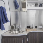 Especially impressive is the seemingly roomy lavatory. See a floorplan of the 28-foot-long Airstream International Signature Series here.  Courtesy of: Airstream