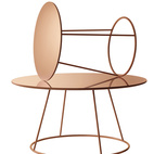 The Breeze tables by Monica Förster for Swedese Förster's debuted a new look at the 2013 Stockholm Furniture Fair: a copper-plated steel base with a laminated copper top, $1,495–$1,995 hightoweraccess.com