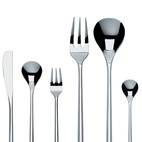 Luckily for your tablescape, the recent Pritzker Prize–winning Japanese architect Toyo Ito also designs flatware. His new collection, Mu cutlery, features slim handles shaped like hexagonal chopsticks, $90 per five-piece place setting.