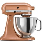 Even KitchenAid is getting in on the action: The company's professional 6-quart stand mixer now comes in a satiny copper finish.  Courtesy of KitchenAid.