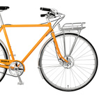 """Shinola's creative director Daniel Caudill says, """"Our long-term goal is to have everything made here. The current challenge is that since we can't [produce everything domestically], what can we make?"""" That would be the bicycle, whose parts are made in Wisconsin (frame), California (wheels), Colorado (spokes), and Mississippi (tubing). Photo by: Greg Vore"""