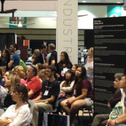A standing room only crowd gathered at Dwell on Design to hear about 3D Systems' Cube, an at-home 3D pritner.