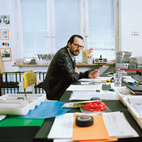 Industrial designer Konstantin Grcic in his Munich studio. Photo by Oliver Mark.  Photo by: Oliver Mark