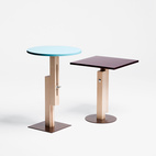 Konstantin Grcic's work is approaching its 20th year in production. His first releases, in 1991, were the Tom Tom and Tam Tam side tables for SCP Ltd. They were re-released in 2009 with sliding mechanisms on their support columns. The result? Adjustable height built in.  Photo by: Oliver Mark