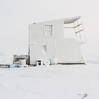 In the summer of 2010, photographer Eirik Johnson adventured to the most northern stretch of the United States to capture several hunting cabins in Barrow, Alaska. He returned in winter 2012 during the frigid Arctic Winter Solstice to photograph the same cabins at the precise angle and position, as he did that one summer. With only a brief four hour window of dusk-like light during this recent winter trip, he still managed to succeed in a complete visual contrast, especially when the images are viewed side by side.  Photo by: Eirik Johnson