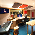 The state-of-the-art recording studio channels a 60s vibe and is primed for guests ready to jam.
