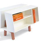 A British modernist classic, the Penguin Donkey 2 bookcase designed by Ernest Race for Isokon, a London-based firm run by Jack Pritchard. Available at Skandium.  Courtesy of Skandium.  This originally appeared in High/Low: Modern Classic Isokon Bookcase.
