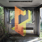 Kelsey: Impossible GeometryRather, Géométrie de L'impossible, a project by artist Fanette Guilloud in which she paints optical illusions in abandoned spaces. To catch the image, one must stand at just the precise in order to get the perspective.