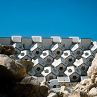 Israeli architect Zvi Hecker's Ramot Polin housing project, built in Jerusalem during the 1970s, combines interlocking cubes and dodecahedrons to create a supernatural, hive-like living environment. Photo by Zvi Hecker.  Courtesy of Zvi Hecker .  This originally appeared in Geometric Housing Complex in Jerusalem .