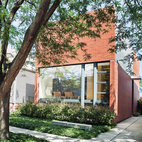 A Brick-Clad Modern Family Home in Chicago  Once ashamed of his lackluster Chicago abode, architect Brad Lynch tore it down and started over with a family home that's part retreat and part public stage. Photo by Matthew Williams.