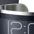 """The designers of the CST-01 call it the """"thinnest watch in the world."""" It's often tricky to trade in absolutes, but anyone who handled a prototype on the CES show floor this week would be hard-pressed to prove them wrong. Dave Vondle and Jerry O'Leary, who call their Chicago-based company Central Standard Timing, say the watch's paper-thin battery charges in 10 minutes and powers the device for a month before it needs to be plugged in again. The watch display is rendered in E Ink, commonly used in e-readers. Photo courtesy of Central Standard Timing."""