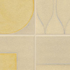Instinct tile from the Lowitz & Company studio is made of stoneware clay and glazed with colored glass. Shown glazed in Moonlight, Shadow, Driftwood, Sunlight and Marigold, the tiles are long-lasting and can help projects qualify for LEED credits.