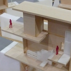 The Georgia Tech School of Architecture (with Architecture for Humanity and Resource Furniture) displayed the entries for its student design competition to create rooms for a zero-energy house.