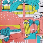 The first-ever Dwell Store Pop-Up featured favorites from the Dwell Store. Pictured, a custom poster created by illustrator James Gulliver Hancock for Dwell on Design.