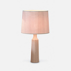 Derome light by Russell Pinch. Standing just over three feet tall, British designer Russell Pinch's table lamp has an ultra-thin ash veneer shade. When illuminated, the natural wood grain becomes visible.
